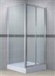 Chrome bi-folding shower enclosure