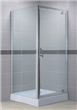 Chrome Pivot shower door with fixed door