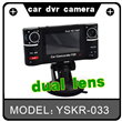 2.7 inch screen night vision car camera with dual lens