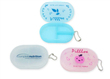 3 Compartment oval pillbox with keychain