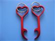Aluminum metal heart shaped bottle opener