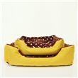 Classical Yellow Oxford and Spot Coral Fleece Pet Beds