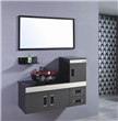 Black Hanging Bathroom Cabinet