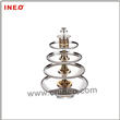 Deluxe 4-Tiers Golden plated Revolving buffet stand