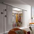 aluminium top hung glass sliding doors