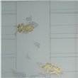Natural design door glass