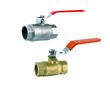Brass ball valve/check valve