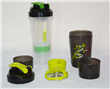 16 Oz  3 compartments  Protein Plastic Shaker Bottle