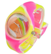 candy silicone watch with mixed color watch