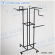 Four Arms Clothes Display Racks / Metal Garment Display Stand