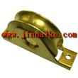 auto factory gate wheel, yellow zinc galvanized wheel