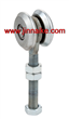 2 wheels sliding hanger roller supplier
