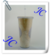 2014 custom design for promotion plastic straw cup