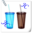 2014 custom design for promotion quality straw bottle