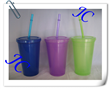 2014 custom color for wholesale straw bottle by manufacture