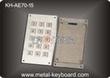 Metal Panel Mount  Keyboard with Anti - Vandalism , waterproof mechan