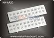 Kiosk Stainless steel Keyboard Vandal - proof , long life ruggedized