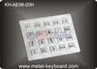 Industrial Stainless steel Kiosk Keypad , Water proof , Dust proof Ke
