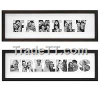 letter collage photo frames
