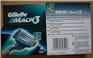 Gillette Mach3 4pack Razor blades Euro version