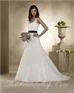 Black belt wedding dress free shipment