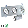 3x3x1w high brightness hot white LED downlight