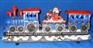 Christmas Train with Rotation LED Wheels