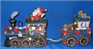 Christmas Train with 2 Carriages
