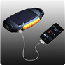 Solar LED Flashlight Panel Light Cellphone Charger