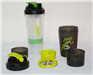 16 Oz 3 compartments Protein Plastic Shaker