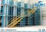 Workshop Multi - Layer Powder Coating Rack Supported Mezzanine Floor