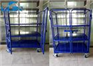 Collapsible metal vertical two front door logistics trolley with whee