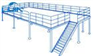 Two level Metal Industrial Mezzanine Floors , Warehouse Mezzanine Sto