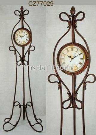 Chinese Antique Metal Floor Clock Antique Metal Floor Clock