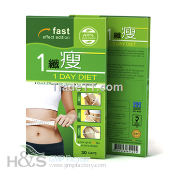 Chinese Herbal Slimming Capsule, 1 Day Diet Pill. - China ...