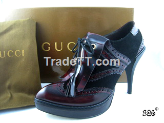 Gucci women leather shoes