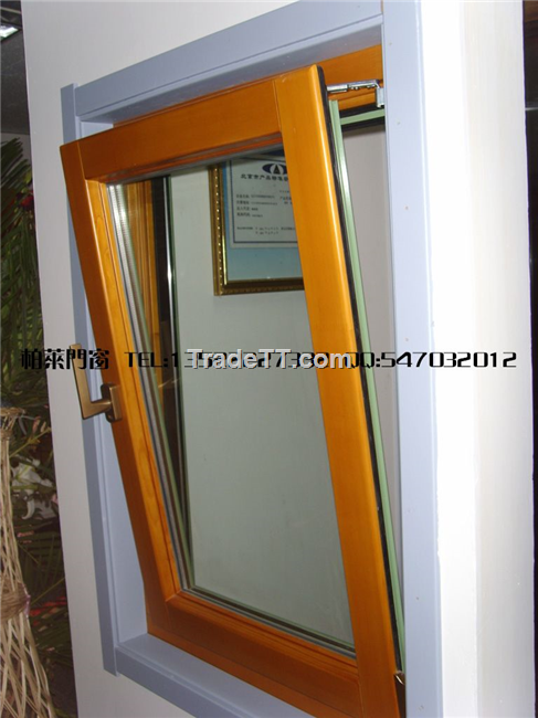 Bolai german style aluminum clad wood windows doors for Window in german