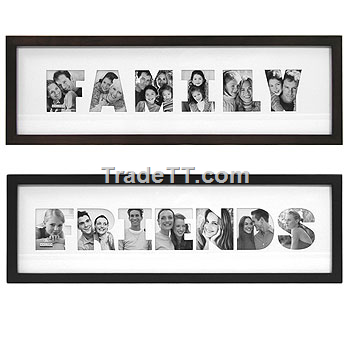 letter collage photo frames