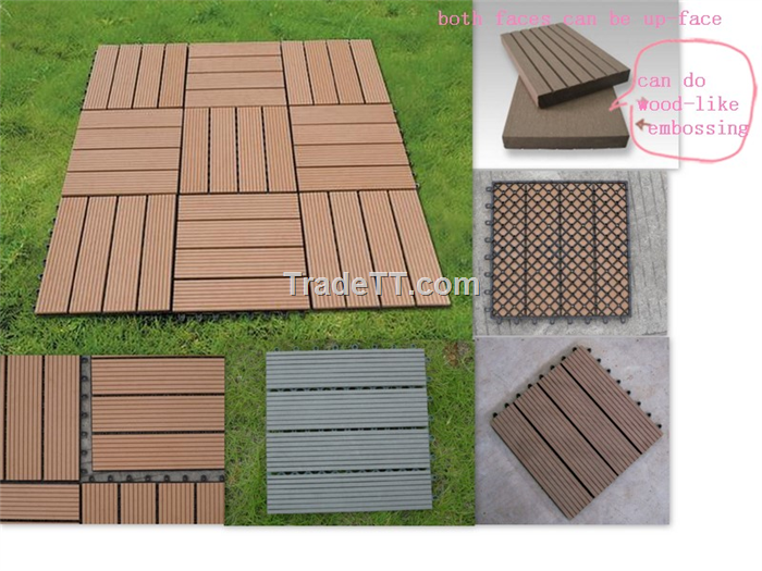 Captivating Wood Plastic Composite Outdoor Decking Floor. «