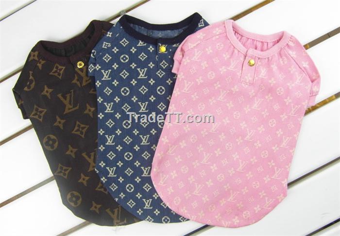 Louis Vuitton pet clothes,dog tee shirt