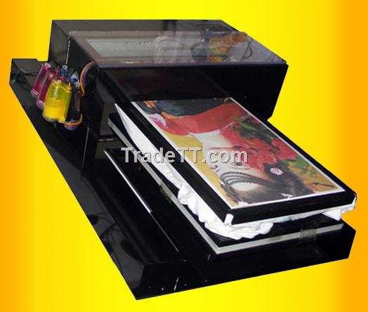 Flatbed digital garment inkjet printer ytj 330 china for Inkjet t shirt printing