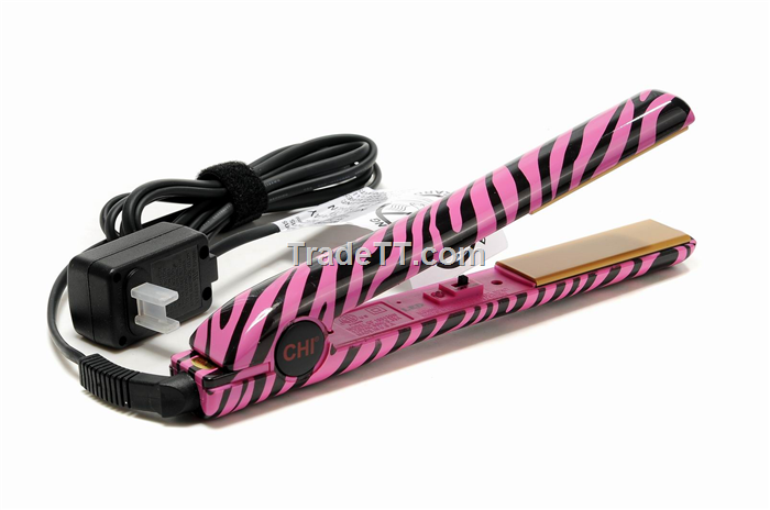 Chi Ceramic Hair Straightener Iron Pink Leopard China