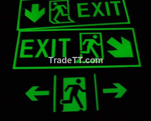 Luminous exit sign ,glow safety sign - China Luminous exit sign ...