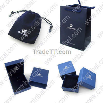 Swarovski Jewellery Packaging Boxes Pouch Bag China