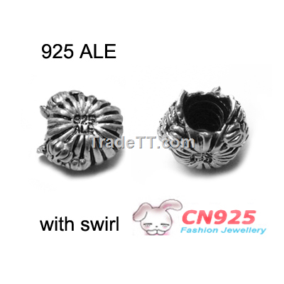 925 Ale Marked Pandora Jewelry Threaded Core Charms