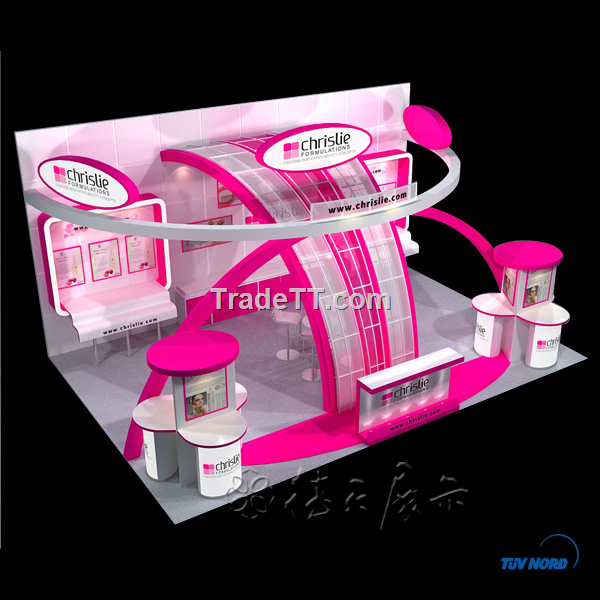Cosmetic Exhibition Stand Design : Exhibitor s cosmetic booth from shanghai china exhibitor s