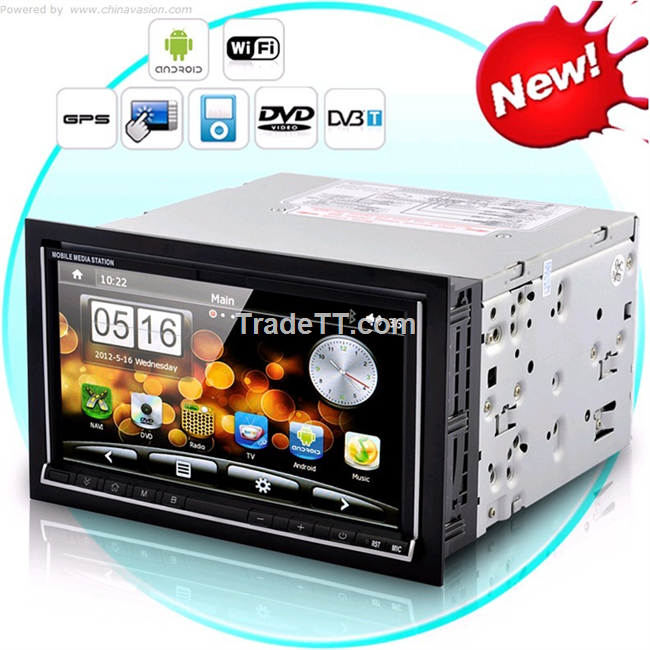 Double din car dvd by android system with wifi 3g surf internet china double din car dvd by