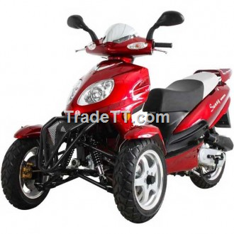 Sunny 50cc three wheel trike scooter two front wheels for 3 wheel motor scooter for sale