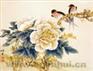 """Предпросмотр схемы вышивки  """"Пионы и ласточки """".  Пионы и ласточки, панно. цветы. японская живопись."""